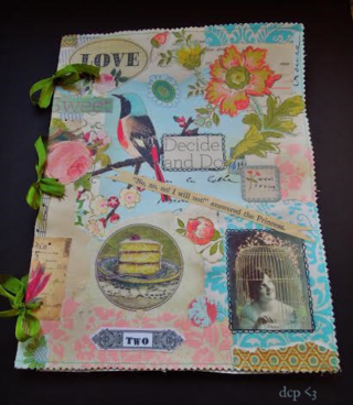 Collaged journal front
