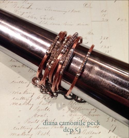 diana camomile peck - soldered bracelets