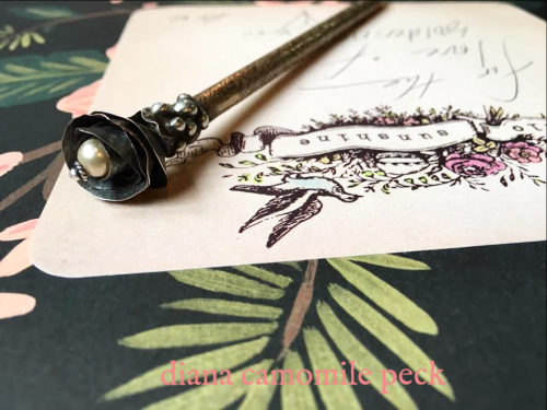 diana camomile peck soldered & etched pen
