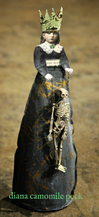 claudine hellmuth inspired halloween poppet doll