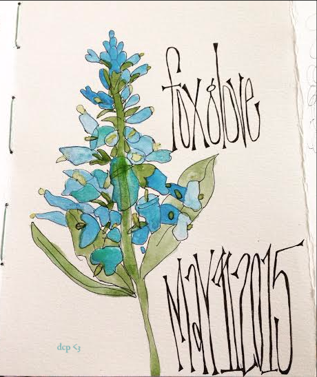art journal - sketchbook - foxglove