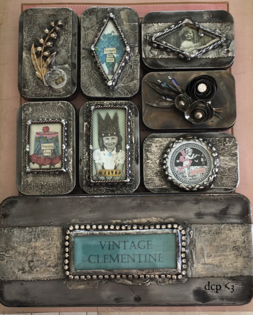 diana camomile peck soldered tins