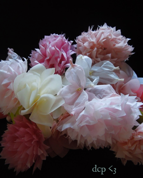 handmade martha stewart tissue paper flowers