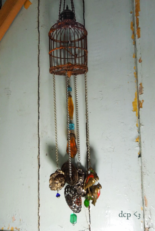handmade wind chime vintage clementine