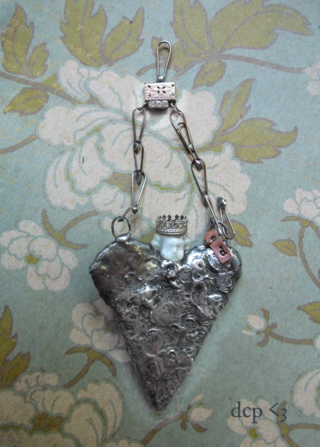 for the love of soldering - stamped heart