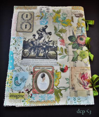 Collaged journal back