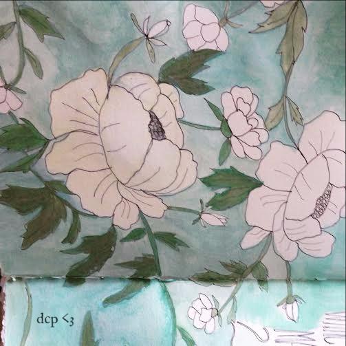 diana art journal white peonies