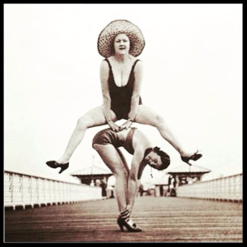 jump for joy vintage image