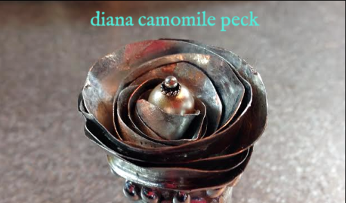 diana camomile peck soldered flower