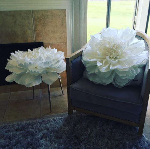 diana camomile peck handmade italian crepe paper flower